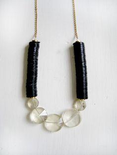 licorice + sugar necklace. #necklace #etsy $49