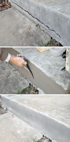 15 Useful Home Repair Tips & Hacks My brother Bashar, has a special talent in fixing things, he can fix almost anything, from fixing the electric generator to fixing a crooked door. I was wondering all the time about how could he know how to fix all these Home Renovation, Home Remodeling, Home Improvement Projects, Home Projects, Home Improvements, Repair Cracked Concrete, Broken Concrete, Concrete Sealer, Home Fix
