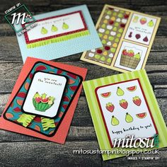 Set of Cards with Tutti-Frutti Suite by Stampin' Up! from Mitosu Crafts