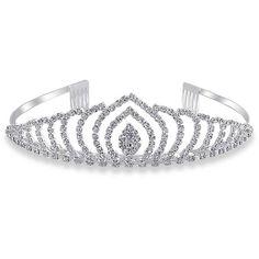 Bling Jewelry Marquise Tiara ($20) ❤ liked on Polyvore featuring jewelry, tiara, hair, crowns/tiara's, fashion-headbands, rhinestone crown, bride jewelry, bridal crown, prom jewelry and crown jewelry