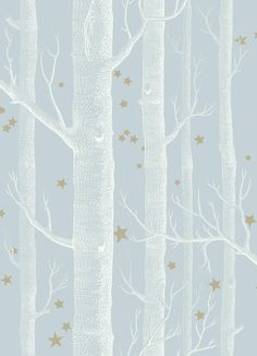 Cole & Son Woods & Stars 103/11051 Powder Blue wallpaper from the Whimsical collection, priced per roll. By combining two Cole & Son classics, we have produced the charming and enigmatic Woods & Stars paper
