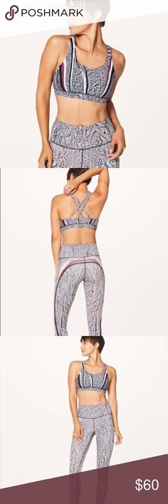 • Lululemon • Energy Sports Bra 10 Polychromatic - Lululemon - Polychromatic Energy Bra 50g Multi Black - Nulux  - Strappy Back - Size 10 - Rare Print  - New with Tags lululemon athletica Intimates & Sleepwear Bras