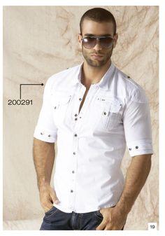 Camisa-manga-tres-cuartos-color-blanco