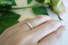 2/3 Carat, Princess Cut, Channel Set, Half Eternity, Wedding Band, Engagement Ring, Man Made Diamond, Bridal, Promise Ring, Sterling Silver