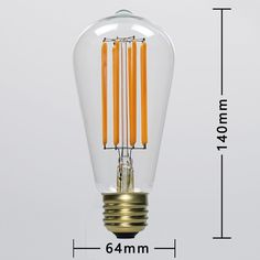 4000k dimmable vintage st64 8 watt led edison bulb E26 E27 B22 CE RoHS FCC approved