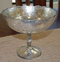 Mercury Glass Desiray Compote 8in
