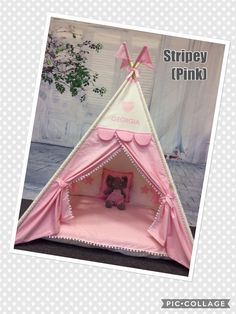 Teepee Tent, Teepees, Diy For Kids, Princesses, To My Daughter, Toddler Bed, Frame, Pink, Handmade