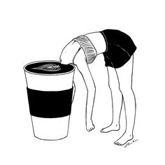 Coffee, First Art Print by Henn Kim | Society6