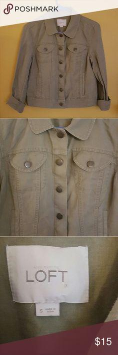 Sz Small LOFT Dark Khaki Spring Jacket Barely worn. Lightweight spring khaki jacket LOFT Jackets & Coats Jean Jackets