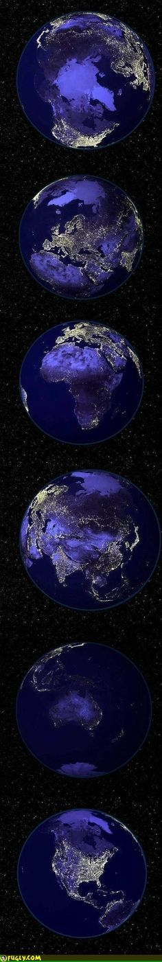 Planet Earth At Night  http://astronomyisawesome.com/solar-systems/cool-facts-about-earth/