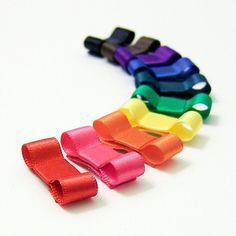 Rainbow Tuxedo Bows Baby Snap Clips Newborn Set di MySweetieBean