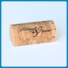 """Always & Forever"" Wine Cork Place Card Holder - Set of 25 - Venue and reception decor (*Amazon Partner-Link)"