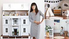 Moeder maakt poppenhuis vol design meubels voor haar dochtertje