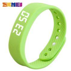 Best Bracelet 2017/ 2018  : Smart Wristband SKMEI LED women smart watch pedometer calorie time date red blac