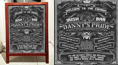 #chalkboardsignage #chalksign Famous Bar, Funeral, Chalkboard Quotes, Art Quotes, Lanterns, Photoshop, Invitations, Templates, Hedgehogs