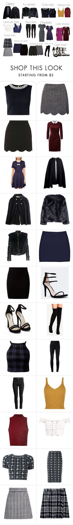 """Veronica Lodge basics - Riverdale"" by shadyannon ❤ liked on Polyvore featuring Topshop, Ted Baker, Pierre Cardin, Local Celebrity, H&M, FRACOMINA, Boohoo, New Look, Anne Michelle and Nly Shoes"