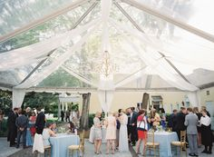 william aiken house wedding with tent draping