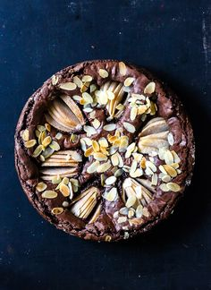 rezept für die besten schokoladen birnen brownies - chocolate pear brownies recipe