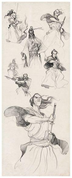 samurais-sketches-braga-diburros ★ Find more at http://www.pinterest.com/competing/
