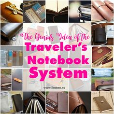 The Midori Traveler's Notebook System is a genius idea of one leather cover and many small, soft cover notebooks. Here's your ultimate guide to sizes etc. Travel Posters, Travel Quotes, Travel Wallpaper Iphone, Travel Inspiration, Journal Inspiration, Journal Ideas, Travel Scrapbook, Travelers Notebook, Video Photography