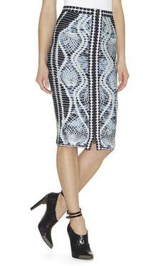 fcc9a15cb627 Tempes Crochet-Jacquard Skirt. Herve Leger