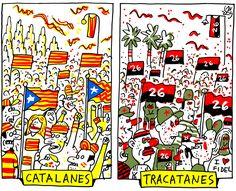 'Catalanes y tracatanes', viñeta de #AlenLauzán en DIARIO DE #CUBA