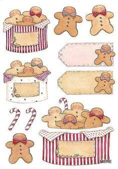 Prim gingerbread, Tilda, plaatjes, gingerbread