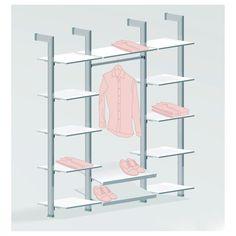 Armario vestidor modular de aluminio | Sistema de almacenaje versátil #dressing