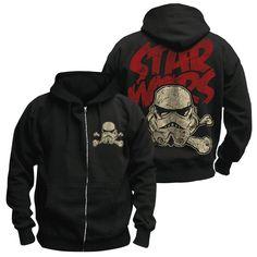 AMAZING DEAL ON! Star Wars: Crossbones Stormtrooper Zip\Pullover Hoodie GEEK OUT!! #geek #shopgeekfreak