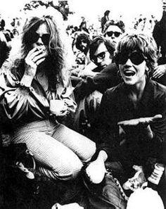 Janis among the crowd.