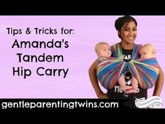 Tandem Hip - FWCC variation Twin/Tandem Babywearing with one long woven wrap - YouTube