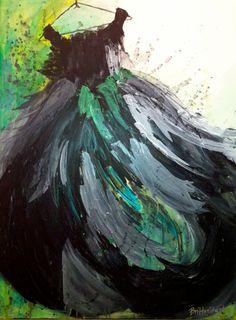 "Abstract Painting titled ""Jillian"""