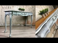 In this tutorial we will makeover this French Provincial Console Table using Chalk Paint. I will show you how to achieve this look, applying textures and dry. Funky Painted Furniture, Paint Furniture, Furniture Makeover, Refinished Furniture, French Console Table, Chalk Paint Techniques, Using Chalk Paint, Magnolia Homes, French Provincial