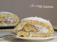 Oggi vi presento un dolce di quelli buoni buoni,il tronchetto alla ricotta e nutella...