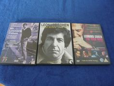 Lot of 3 Leonard Cohen Region 2 DVD Im your Man Under Review Ladies & Gentleman