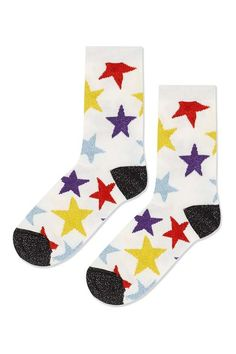 Glitter Star Ankle Socks