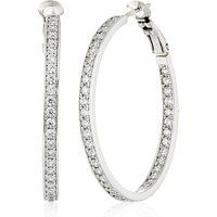 Crislu Esteemed Elegance Platinum-Plated Inside Out Cubic Zirconia Hoop Earrings$178More details