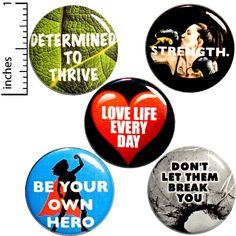 Strong Women 5 Pack Buttons Strength Be Your Own Hero Thrive Love Life Every Day Boxer Superhero Backpack Pins Funny Buttons, Cool Buttons, Tough Woman, Be Your Own Hero, Bag Pins, Cool Backpacks, Teen Backpacks, Leather Backpacks, Leather Bags