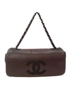 chanel gray leather shoulder bag 2850 httpwwwboutiqueon57comproductschanel gray leather shoulder bag