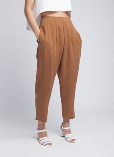 Copper Forage Pleated Pocket Pant