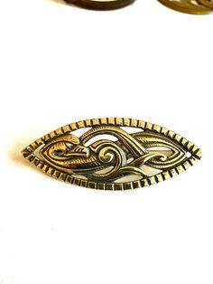 Gustav Gaudernack design for own workshop. Silver brooch in dragon style.  ca 1905-1914