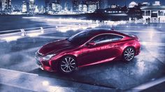 Red lexus rc coupe
