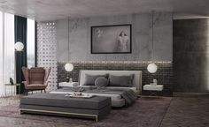 concrete-and-exposed-brick-contemporary-bedroom