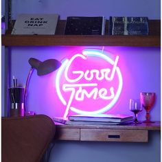 'Good Times' LED Neon Light Up Sign