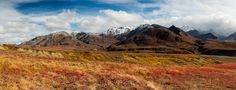 Kluane NP Fall Colors Panorama © 2014 Dennis Krukover & Dark Eclipse Studios  ★★★ Limited Edition Fine Art Print of this image & others are available for purchase directly from the artist @www.darkeclipse.com ★★★ Thank you for your support of independent photographers on Pinterest ★