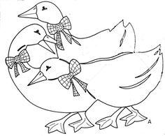 Dekoráció libás motívumokkal Hand Embroidery Patterns, Applique Patterns, Quilt Patterns, Animal Line Drawings, Animal Sketches, Martini, Bird Template, Valentine Coloring Pages, Fairy Crafts