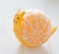 because who wouldn't love a tangerine snail! #diy