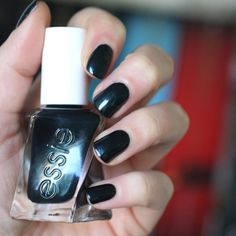 A kiss in the shadows and this smoldering jet black accessorized with jade shimmer are all you need to make it a night to remember. Shop this long-wear nail polish by essie -- gel couture 'hang up the heels' for the perfect manicure: http://www.essie.com/gel-couture/colors/Deeps/hang-up-the-heels.aspx