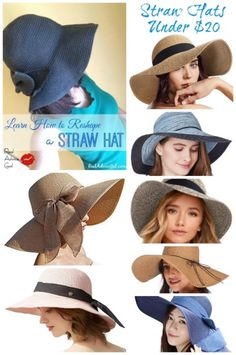 Learn how to reshape a straw hat. And check out our picks of fab straw hats under $20.