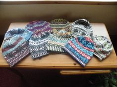 knitted caps. Shetland